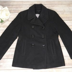 Calvin Klein Black Double Breasted Peacoat P10